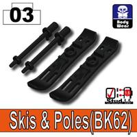 Minifigure Skis and Poles