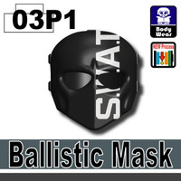 Ballistic Mask SWAT Printed