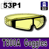 Yellow Transparent Printed Goggles