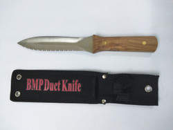 BMP - Stainless Steel Ductboard Knife w/Sheath