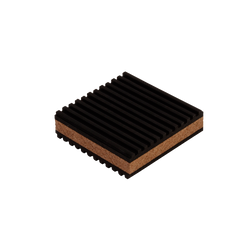 "DiversiTech - 3"" Rubber and Cork Pad"
