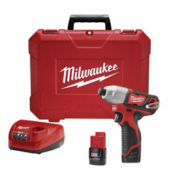 "Milwaukee - M12 1/4"" Hex Impact Driver Kit"