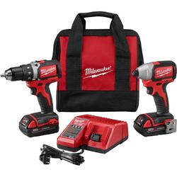 Milwaukee - M18 Compact Brushless Drill/Brushless Impact Kit
