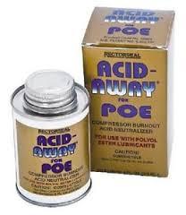 Acid Away 4 Ozs. For Poe Oil