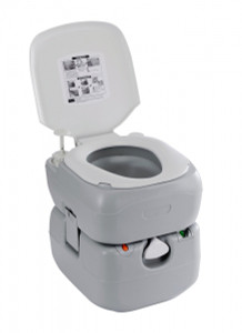 Oztrail Streamline Twin Flush Portable Toilet 20L