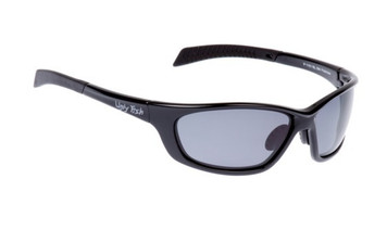 Ugly Fish Basic Polarised Sunglasses P1101 Shiny Black Frame Smoke Lens