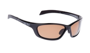 Ugly Fish Basic Polarised Sunglasses P1101 Shiny Black Frame Brown Lens