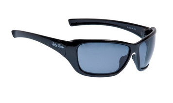 Ugly Fish Basic Polarised Sunglasses P1366 Shiny Black Frame Smoke Lens