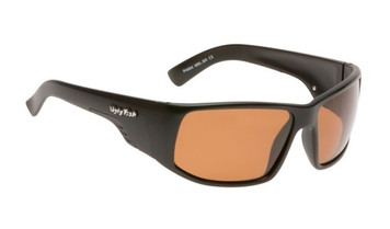 Ugly Fish TR-90 Polarised Sunglasses P4664 Matt Black Frame Brown Lens