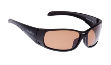 Ugly Fish TR-90 Polarised Sunglasses P5066 Matt Black Frame Brown Lens