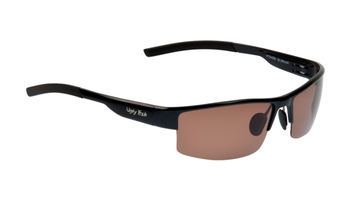 Ugly Fish Triacetate(TAC) Polarised Sunglasses PT24285 Black Aluminium Frame Brown Lens