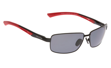Ugly Fish Triacetate(TAC) Polarised Sunglasses PT24377 Black Aluminium Frame Smoke Lens