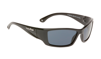 Ugly Fish Triacetate(TAC) Polarised Sunglasses PT3650 Black TR90 Frame Smoke Lens