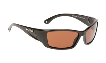 Ugly Fish Triacetate(TAC) Polarised Sunglasses PT3650 Black TR90 Frame Brown Lens
