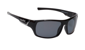 Ugly Fish Triacetata(TAC) Polarised Sunglasses PT5516 Black TR90 Frame Smoke Lens