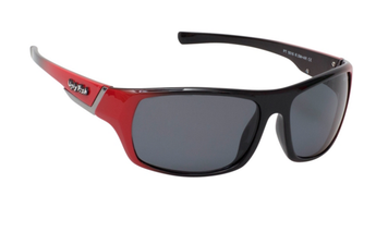 Ugly Fish Triacetata(TAC) Polarised Sunglasses PT5516 Red TR90 Frame Smoke Lens