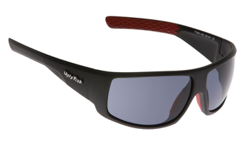 Ugly Fish Triacetate(TAC) Polarised Sunglasses PT6881 Matt Black TR90 Frame Smoke Lens