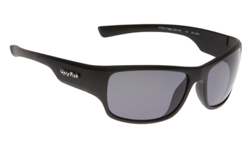 Ugly Fish Triacetate(TAC) Polarised Sunglasses PT9717 Matt Black TR90 Frame Smoke Lens