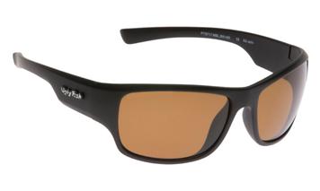 Ugly Fish Triacetate(TAC) Polarised Sunglasses PT9717 Matt Black TR90 Frame Brown Lens