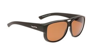 Ugly Fish Polarised P506 Over Sunglasses Matt Black TR-90 Frame Brown Lens