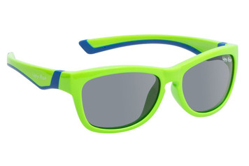 Ugly Fish Junior Polarised Sunglasses PK488 Green Frame Smoke Lens