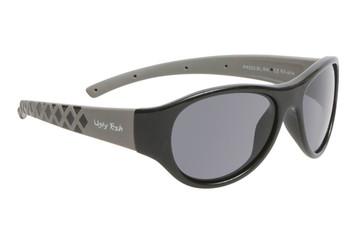 Ugly Fish Junior Polarised Sunglasses PK922 Shiny Black Frame Smoke Lens