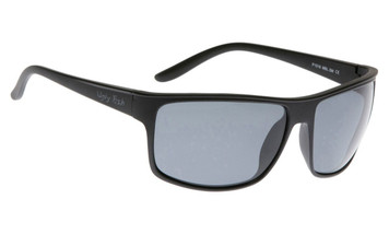 Ugly Fish Basic Polarised Sunglasses P1016 Matt Black Frame Smoke Lens
