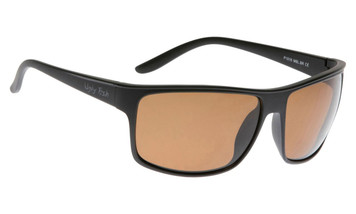 Ugly Fish Basic Polarised Sunglasses P1016 Matt Black Frame Brown Lens