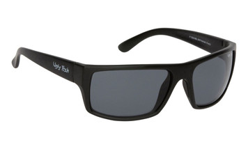 Ugly Fish Basic Polarised Sunglasses P1202 Matt Black Frame Smoke Lens