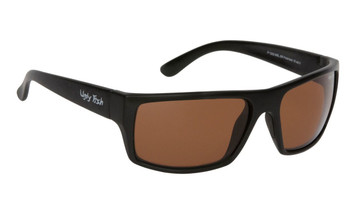 Ugly Fish Basic Polarised Sunglasses P1202 Matt Black Frame Brown Lens