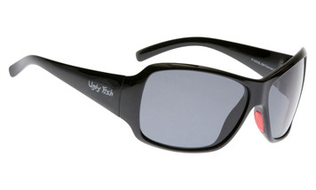 Ugly Fish Basic Polarised Sunglasses P1475 Shiny Black Frame Smoke Lens