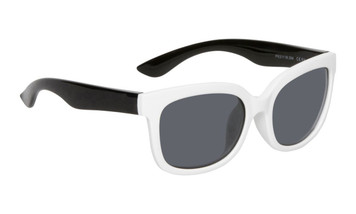 Ugly Fish Polarised Sunglasses PKM511 White Frame Smoke Lens