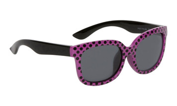 Ugly Fish Polarised Sunglasses PKM511 Purple Black Polkadot Frame Smoke Lens