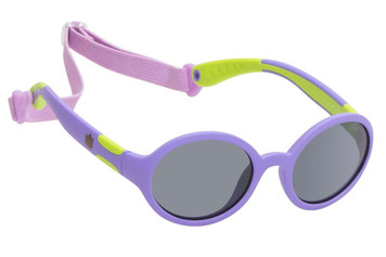 Ugly Fish Polarised Sunglasses PKR 133 Purple Frame Smoke Lens