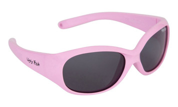 Ugly Fish Polarised Sunglasses PB001 Pink Frame Smoke Lens