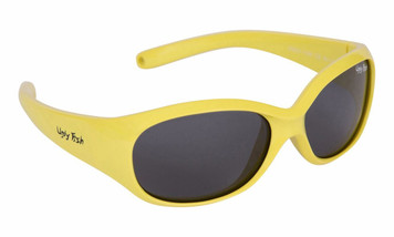 Ugly Fish Polarised Sunglasses PB001 Yellow Frame Smoke Lens