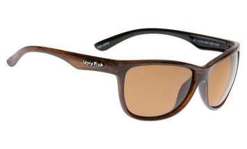 Ugly Fish Triacetata(TAC) Polarised Sunglasses PT6544 Brown TR90 Frame Brown Lens
