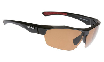 Ugly Fish Triacetata(TAC) Polarised Sunglasses PT6797 Matt Black TR90 Frame Brown Lens