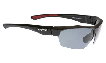 Ugly Fish Triacetata(TAC) Polarised Sunglasses PT6797 Matt Black TR90 Frame Smoke Lens