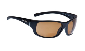 Ugly Fish Polarised Bifocal 2.50 Sunglasses Eclipse PN3411 Matt Black Frame Brown Lens