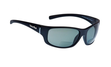 Ugly Fish Polarised Bifocal 2.50 Sunglasses Eclipse PN3411 Matt Black Frame Smoke Lens