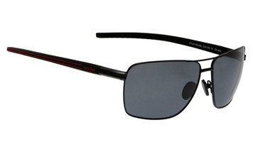 Ugly Fish Triacetate(TAC) Polarised Sunglasses PT24166 Matt Black Aluminium Frame Smoke Lens