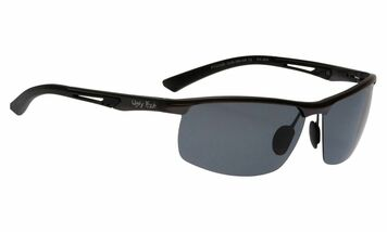 Ugly Fish Triacetate(TAC) Polarised Sunglasses PT24388 Gun Metal Aluminium Frame Smoke Lens