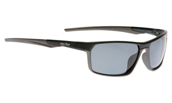 Ugly Fish Triacetate(TAC) Polarised Sunglasses PT24543 Matt Black Aluminium Frame Smoke Lens