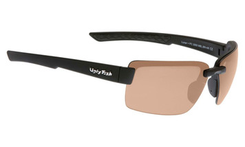 Ugly Fish Polarised Lunar Sunglasses PC3050 Matt Black Frame Brown PC Lens