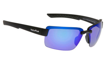 Ugly Fish Polarised Lunar Sunglasses PC3050 Matt Black Frame Blue PC Lens