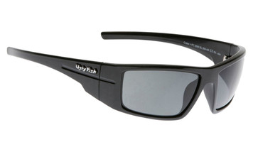 Ugly Fish Polarised Crater Sunglasses PC3095 Black Frame Smoke PC Lens