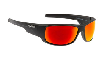 Ugly Fish Polarised Krypton Sunglasses PC3266 Matt Black Frame Red Revo PC Lens