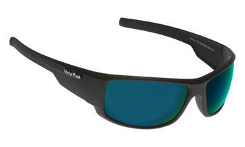Ugly Fish Polarised Krypton Sunglasses PC3266 Matt Black Frame Green Revo PC Lens