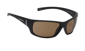 Ugly Fish Polarised Eclipse Sunglasses PC3411 Matt Black Frame Brown PC Lens